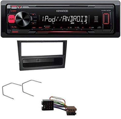 Kenwood-MP3-USB-Autoradio-fr-Opel-Agila-Combo-Corsa-C-Omega-B-Vivaro-ISO-schwarz