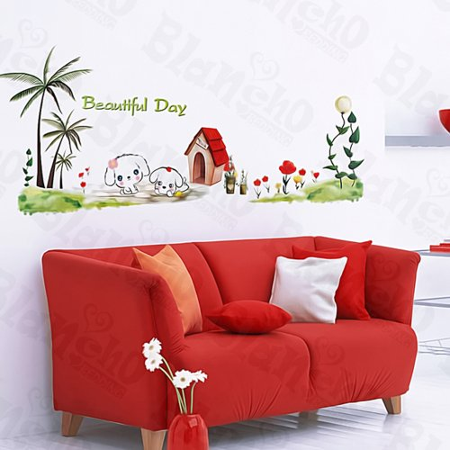Blancho Bedding Dog House - Large Wall Decals Stickers Appliques Home Decor