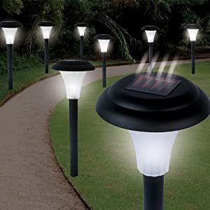 Garden Creations Solar-Powered LED Accent Light, Set of 8 at Amazon.com