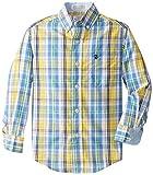 Izod Little Boys' Long Sleeve Plaid Oxford Shirt