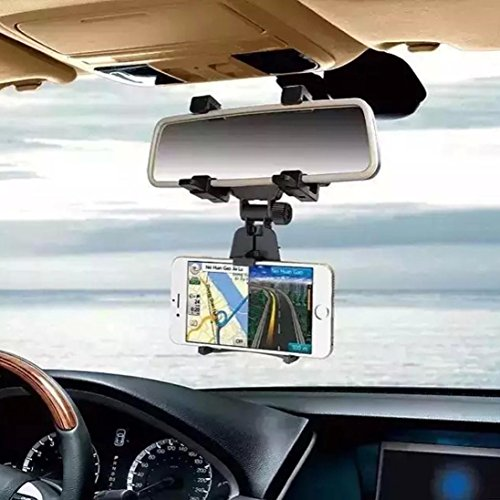 Car Mount, Voberry® Universal Car Rearview Mirror Mount Truck Auto Bracket Holder Cradle for Apple iPhone 6/6s/6s plus/ 5s/4s, Samsung Galaxy S6/S6 edge/S5/S4/S3,Cellphones, IOS, Android Smartphone (Truck Mirror Brackets compare prices)