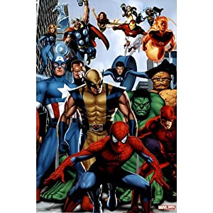 Marvel heroes poster amazing collage rare hot - Poster super heros ...