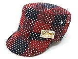 キッズ ウール混 生地 ワークキャップ 子供帽子 キャップ キャスケット レッド 52cm
