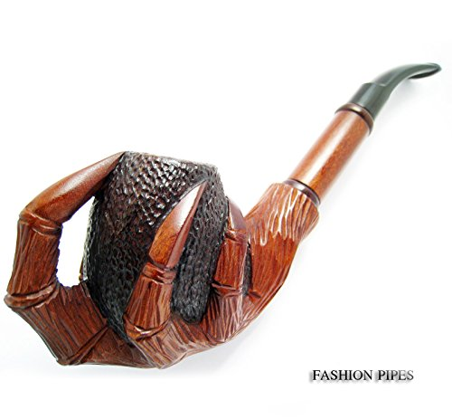 Churchwarden-Tobacco-Smoking-Pipe-Carved-Pear-Root-Wood-Exclusive-Dragon-Claws-Pouch-Gift