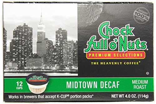 Chock Full o'Nuts Midtown Decaf Coffee K-Cups 12 Ct - Pack Of 2 (Chock Full O Nuts Decaf compare prices)
