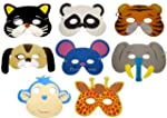 8 Assorted Foam Animal Masks