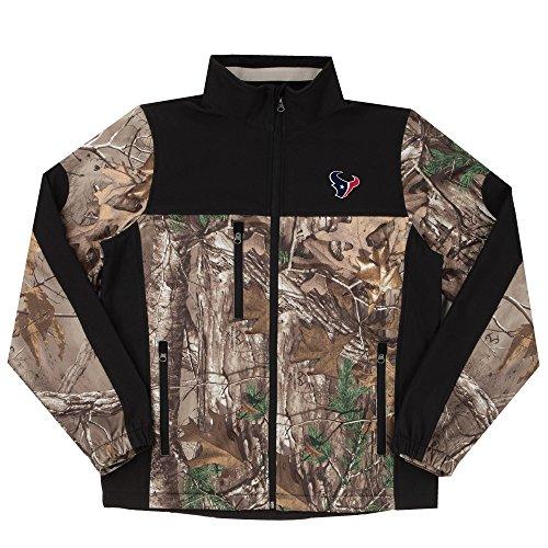 NFL Houston Texans Hunter Colorblocked Softshell Jacket, Real Tree Camouflage, Medium