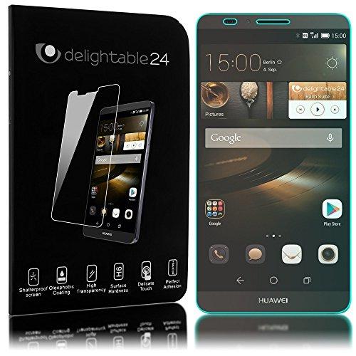 delightable24 Pellicola Protettiva Vetro Temprato Glass Screen Protector Smartphone HUAWEI ASCEND MATE 7 - Transparente
