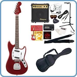 Photogenic エレキギター ムスタングタイプ MG-200 初心者入門13点セット /メタリックレッド(9707003041)