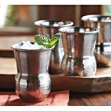 Hammered Stainless Steel Tumblers - Set of four