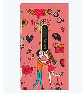 PRINTSWAG LOVE COUPLE Designer Back Cover Case for NOKIA LUMIA 920