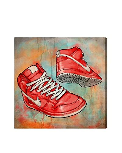 Oliver Gal Hatcher & Ethan 'Cherry Kicks' Canvas Art