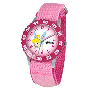 Disney Kids' W000070 Tinker Bell Stainless Steel Time Teacher Watch