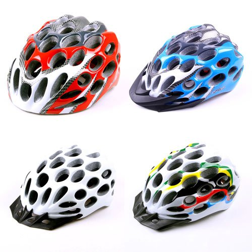 New In-Mold Light Mount Road Bike Cycling Safety Adult Helmet 39 Vents L 22