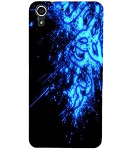 PrintDhaba Digital design D-2145 Back Case Cover for HTC DESIRE 728 (Multi-Coloured)