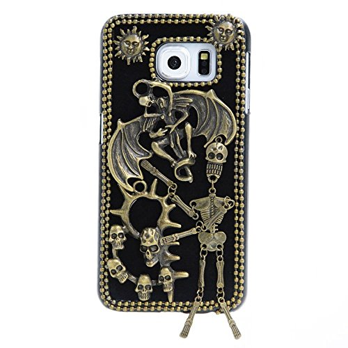 'Spritech (TM) 3d personalità Devil Skull Decor bronze-colored Custodia rigida Caver, Style-2, Samsung Galaxy Note 5