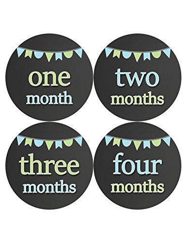 Months in Motion 335 Monthly Baby Stickers Baby Boy Months 1-12 Chalkboard