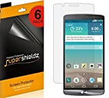 [6-Pack] SUPERSHIELDZ- Anti-Bubble High Definition Clear Screen Protector For LG G3 + Lifetime Replacements Warranty (AT&T, Sprint, T-Mobile, Verizon, US Cellular, Boost Mobile , All Carriers)[6-PACK] - Retail Packaging