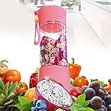 Alcoa Prime New Arrive Pink Portable Electric Fruit Juicer Smoothie Maker Blender Rechargeable Vegetable Fruit...