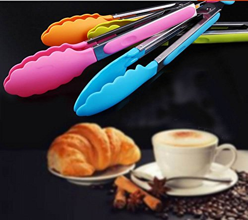 utilitaire pinces alimentaires de cuisson clips r?i / pain / Steak pince, blue