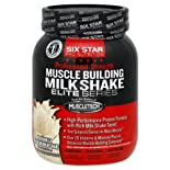 Six Star Pro Nutrition Elite Series Milkshake, Muscle Building, Professional Strength, Rich Vanilla Ice Cream, 2 lb.