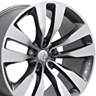 20 Fits Dodge - Charger Style Replica Wheels - Gunmetal Machined Face 20x9 SET