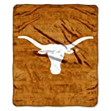 NCAA Texas Longhorns Micro Plush Raschel Throw Blanket, Grunge Design