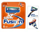 Gillette Fusion Manual Blades - 8 Pack Refill