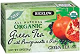 Bigelow Organic Green Tea with Pomegranate & Acai, 1.28 Ounce Box