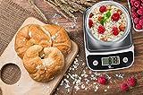 1byone digitale Küchenwaage für präzises Kochen und Backen, Multifunktionswaage mit Tragkraft von 1G zu 5KG, Farbe: Elegant Schwarz -