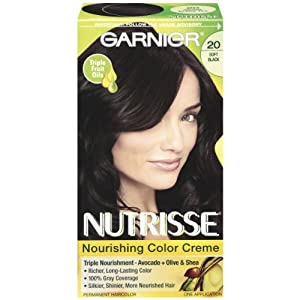 Garnier Nutrisse Haircolor, 20 Black Tea, Soft Black