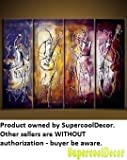 Harmonic - Modern Abstract Oil Painting on Canvas Stretched Framed with Wooden Frame - Return shipping covered for continental US regions