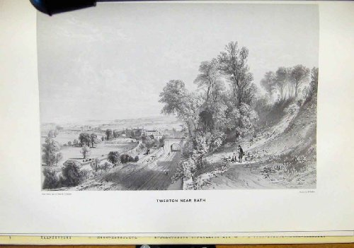Twerton Near Bath Great Western Railway Old Print