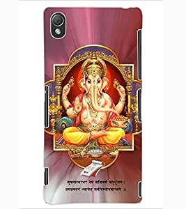 ColourCraft Lord Ganesha Design Back Case Cover for SONY XPERIA Z3