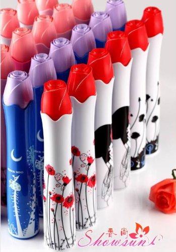 JapaNice 軽量 折りたたみ 傘 (3色から) 【 スタイリッシュ で 花瓶 タイプ の おしゃれ な ファッション 折り畳 傘 / プレゼント にも 最適 バラ一輪挿し ボトル かさ】 (ピンク)