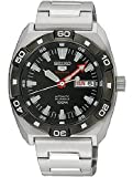 Seiko 5 Sports #SRP285 Men's Stainless Steel 100M 24 Jewels Black Dial Automatic Watch