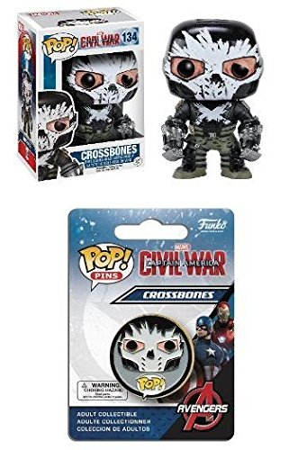 Funko POP! Captain America 3: Crossbones w/ Pin - Civil War Stylized Set NEW