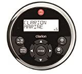 Clarion MW1 Watertight Black Face with Stainless Steel Bezel Remote with LCD Display for 2009 Marine Source Units