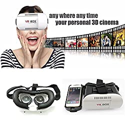 Evana Hot Selling VR Headset Virtual Reality 3D Glasses Google Cardboard VR Box For 4-6 inch Smartphones