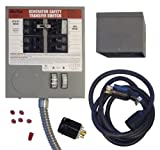 GenTran KIT3026 Prewired Manual Transfer Switch Kit for 6-10 Circuits and Generators up to 7500-Watt