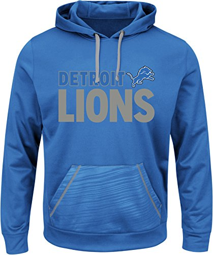 LIONS NFL Men's Dl Stunt Program Long Sleeve Pullover Hoodie  Sport Blue-Stone Gray Small (Detroit Lions Program compare prices)