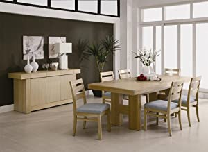 dabny casual dining table 8 piece ash
