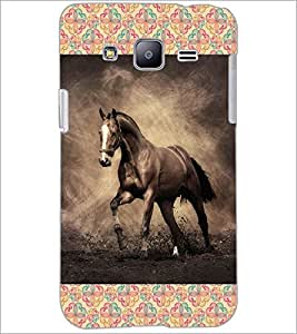 PrintDhaba Horse D-6025 Back Case Cover for SAMSUNG GALAXY J2 (Multi-Coloured)