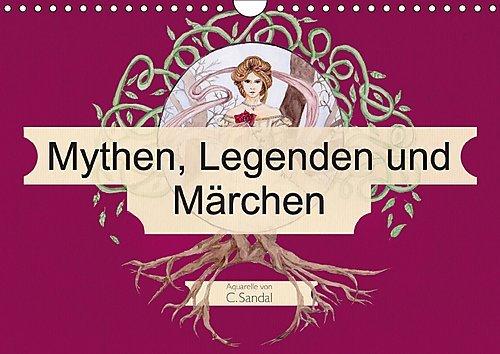 mythen-legenden-und-marchen-wandkalender-2017-din-a4-quer-jugendstil-inspirierte-aquarelle-monatskal