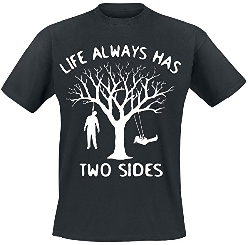 Life Always Has Two Sides T-Shirt nero XXL