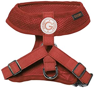 Gooby Choke Free Freedom Harness II for Dogs, X-Large, Red