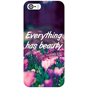 Apple iPhone 5S Back Cover - Everything Has A Beauty Designer Cases