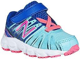 New Balance KV890 PDI Hook and Loop Running Shoe (Infant/Toddler), Blue/Pink, 2 W US Infant