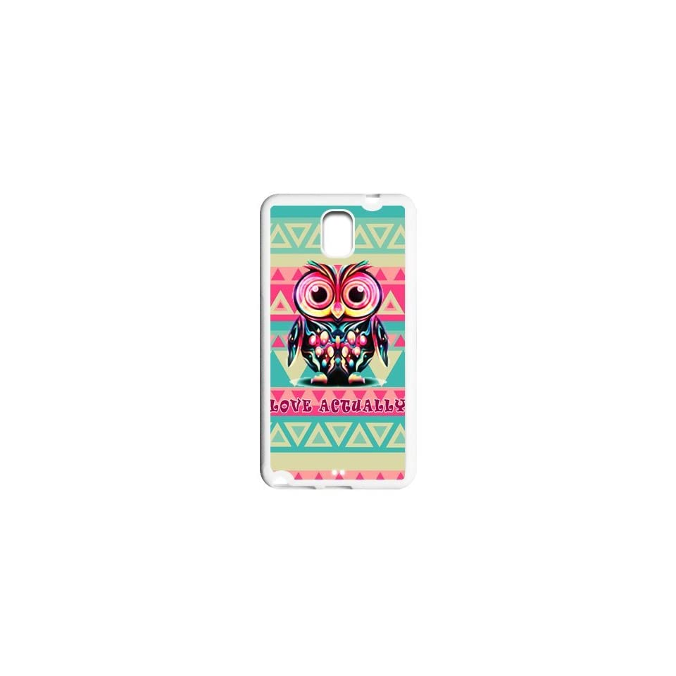 Vcapk Aztec Andes Tribal Pattern with Owl love Actually Quote unique design Custome Phone Case for Samsung Galaxy Note 3 N900 TPU(SideSilicon BackTPU)