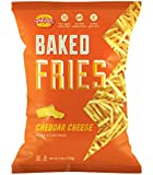 Snikiddy All Natural Baked Fries, Cheddar Cheese, 4.5-Ounce Bags (Pack of 12)